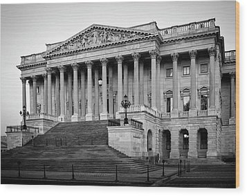 The South End In Black And White Wood Print by Greg Mimbs