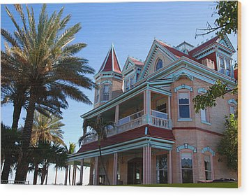 The Southernmost House In Key West Wood Print by Susanne Van Hulst