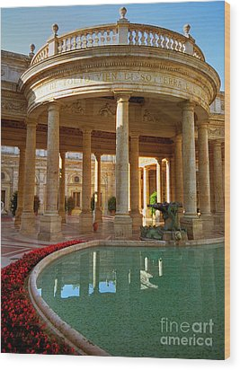 Wood Print featuring the photograph The Spa At Montecatini Terme by Nigel Fletcher-Jones