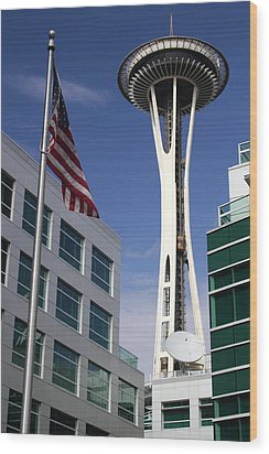 The Space Needle Too Wood Print