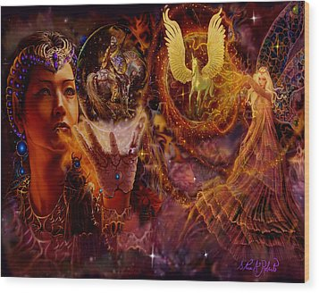 Wood Print featuring the painting The Spell Masters by Steve Roberts
