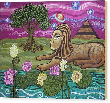 The Sphinx Wood Print by Genevieve Esson
