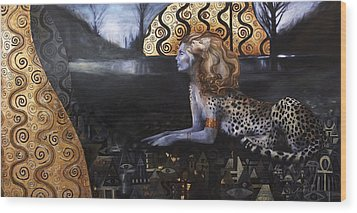 The Sphinx Wood Print by Ragen Mendenhall