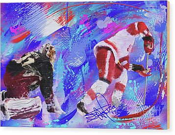 The Spin Todd Bertuzzi Wood Print by Donald Pavlica