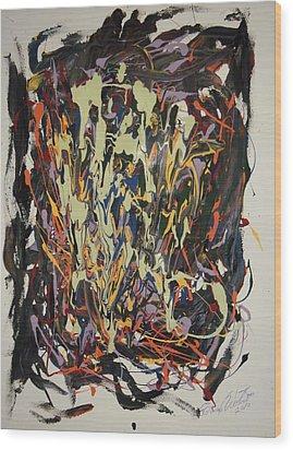 The Spirit Dance Wood Print by Edward Wolverton