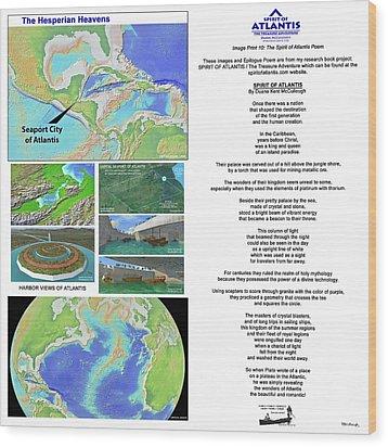 The Spirit Of Atlantis Poem Wood Print