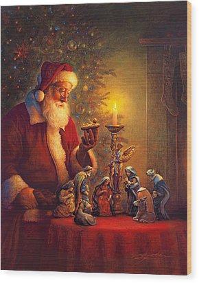 The Spirit Of Christmas Wood Print
