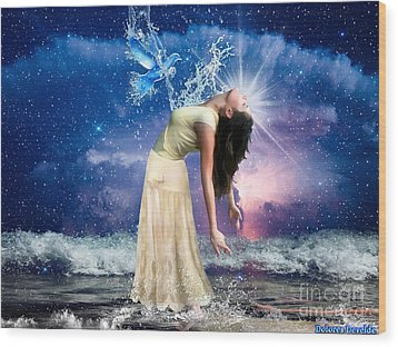 Wood Print featuring the digital art The Spirit Of Truth by Dolores Develde
