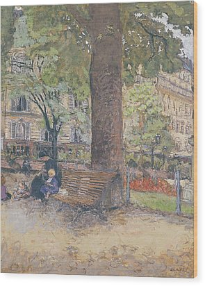 The Square At Vintimille Wood Print by Edouard Vuillard