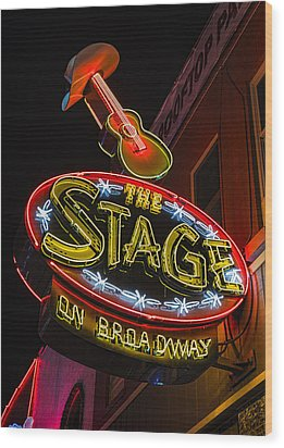 The Stage On Broadway Wood Print by Stephen Stookey