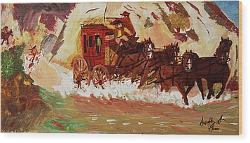 The Stagecoach Wood Print by Swabby Soileau