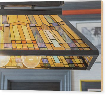 The Stained Glass Wood Print