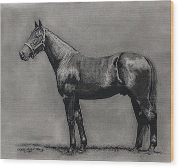 The Standardbred Wood Print by Thomas Allen Pauly