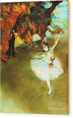 The Star By Edgar Degas Wood Print by Pg Reproductions