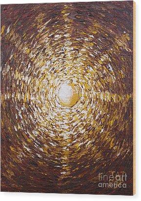 The Star Of Vergina Wood Print by Tatjana Popovska
