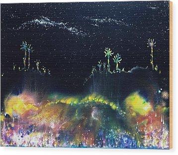 The Starfields Of Andromeda Wood Print by Lee Pantas