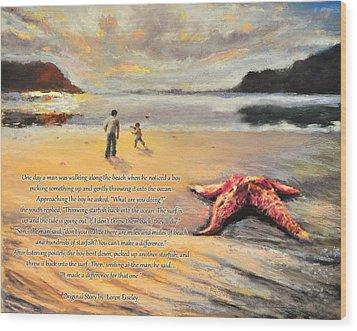The Starfish Wood Print by Susan Jenkins