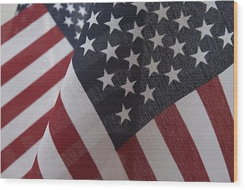 The Stars And Stripes Wood Print by Jerry McElroy