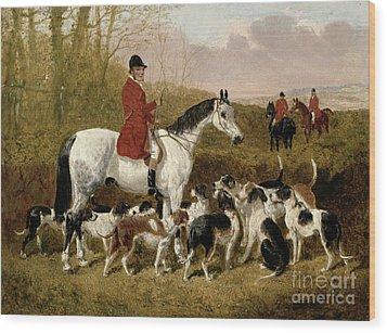The Start  Wood Print by John Frederick Herring Snr