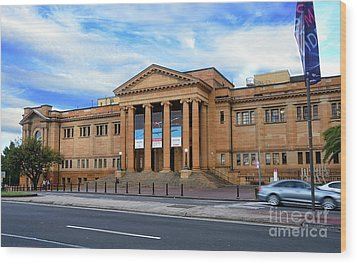 Wood Print featuring the photograph The State Library Of New South Wales By Kaye Menner by Kaye Menner