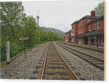 The Station Wood Print