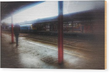 Wood Print featuring the photograph The Station by Isabella F Abbie Shores FRSA