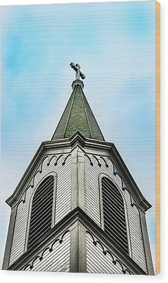 Wood Print featuring the photograph The Steeple by Onyonet  Photo Studios