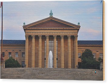 The Steps Of The Philadelphia Museum Of Art Wood Print by Bill Cannon