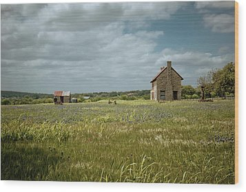 Wood Print featuring the photograph The Stone House by Linda Unger