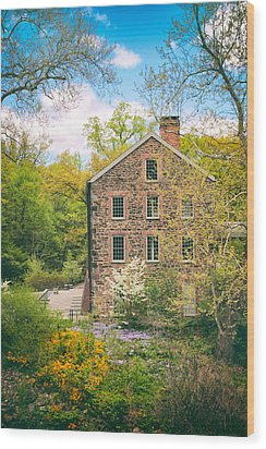 The Stone Mill In Spring Wood Print by Jessica Jenney