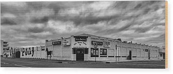 The Stone Pony Asbury Park New Jersey Black And White Wood Print