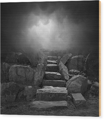The Stone Steps I Wood Print by Dave Gordon