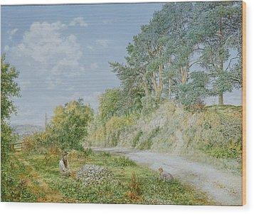 The Stonebreaker Wood Print by George William Mote