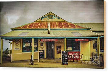 Wood Print featuring the photograph The Store by Perry Webster