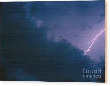 The Storm 1.2 Wood Print by Joseph A Langley