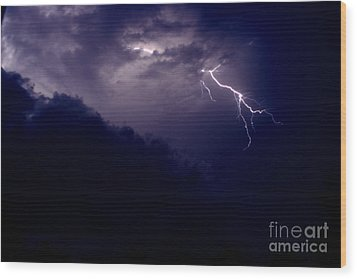 The Storm 1.3 Wood Print by Joseph A Langley