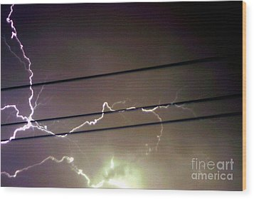The Storm 1.4 Wood Print