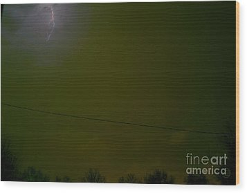 The Storm 2.1 Wood Print by Joseph A Langley