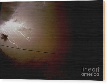 The Storm 2.2 Wood Print by Joseph A Langley