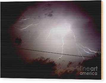 The Storm 2.3 Wood Print by Joseph A Langley