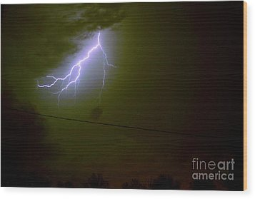 The Storm 2.4 Wood Print by Joseph A Langley