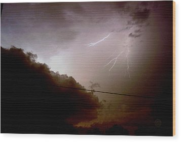 The Storm 2.5 Wood Print by Joseph A Langley