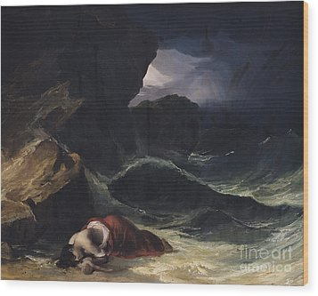 The Storm Or The Shipwreck Wood Print by Theodore Gericault