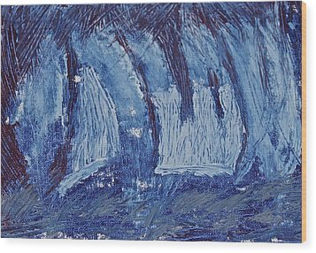 Wood Print featuring the painting The Storm by Xn Tyler