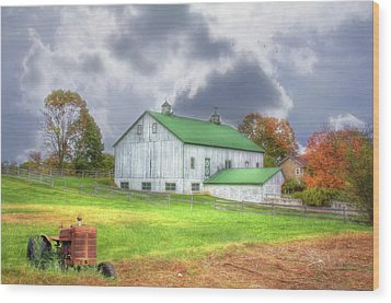 The Storms Coming Wood Print by Sharon Batdorf