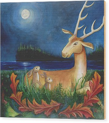 Wood Print featuring the painting The Story Keeper by Terry Webb Harshman