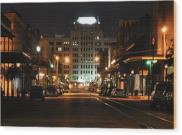 Wood Print featuring the photograph The Strand At Night by John Collins