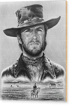 The Stranger Bw 1 Version Wood Print by Andrew Read