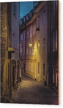 Wood Print featuring the photograph The Streets Of Salzburg by David Morefield