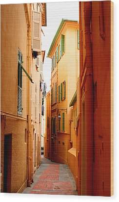 The Streets Of Venice Wood Print